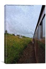 Steam train coach reflection, Canvas Print