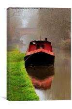 Narrowboat on the Canal, Canvas Print