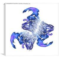 Waves in turmoil, Canvas Print