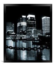 Canary Wharf & Chains, Framed Print