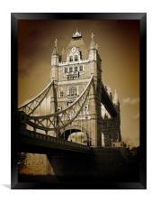 Tower Bridge Sepia (1), Framed Print