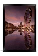 Big Circles in the Square, Framed Print