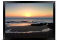 Pastel Sunrise, Framed Print