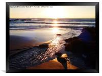 Sunrise Shore, Framed Print