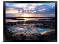 Sea Sunrise Reflection, Framed Print