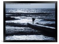 Shanklin Surfer, Framed Print