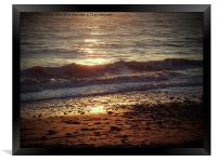 Sparkling Sea, Framed Print