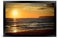 Sea Sunset, Framed Print