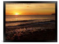 Sunset on the Beach, Framed Print