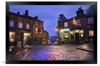 Haworth Main Steet, Framed Print
