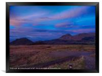 West Highland Way - Dumgoyne hill at last light, Framed Print