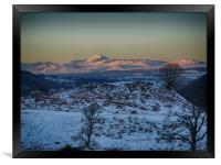Alpine sunset over Ben Lomond and surrounds, Framed Print
