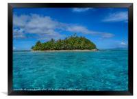 South Pacific island off Bora Bora, Framed Print