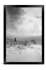 Snowy Gate, Framed Print