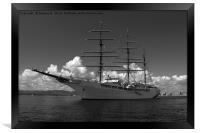 Sea cloud 2 bw, Framed Print
