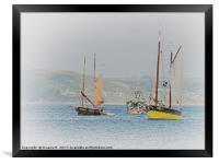 Fishing Boats In Looe, Framed Print