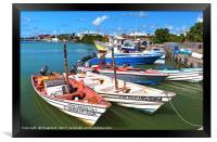 St John Antigua, Framed Print