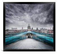 Millenium Bridge, London, Framed Print