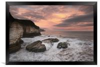 Thornwick Bay Sunrise 2, Framed Print
