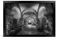 The Crypt at Lastingham Church, Framed Print