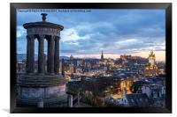 Edinburgh from Calton Hill, Framed Print