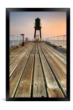 Whitby, West Pier, Framed Print