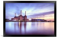 Battersea Power Station, Framed Print