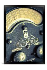 Vintage Avometer, Framed Print