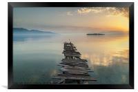 Corfu Dawn, Framed Print