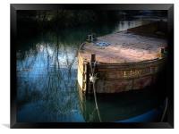 Rusty Barge, Framed Print