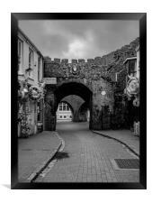 West Gate Tenby, Framed Print