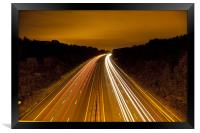 Motorway Light Trails, Framed Print