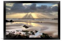 Amroth beach sunrise 2, Framed Print