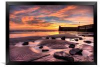 Saundersfoot Harbour Sunrise, Framed Print