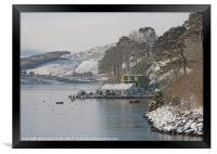 The end of Portree pier in winter, Framed Print