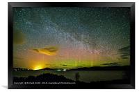 Milky Way and Aurora Borealis #3, Framed Print