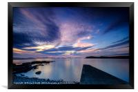 Light reflections from the Sgeir Lang Slipway, Framed Print