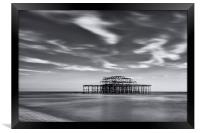 West Pier, Framed Print