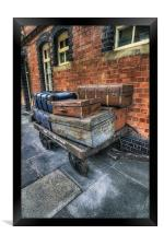 Luggage at the Station, Framed Print
