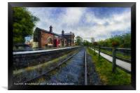 Hadlow Road Railway Station, Framed Print