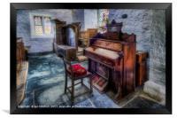 Olde Church Organ , Framed Print