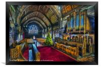 Christmas Church Service, Framed Print