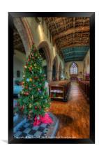 Church At Christmas, Framed Print