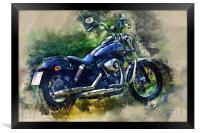 Harley Davidson, Framed Print