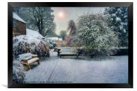 Snowy Park, Framed Print