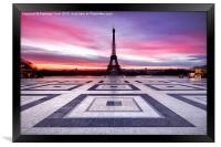 Paris Sky on Fire, Framed Print