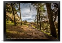 Out of the woods, The Roaches, Peak District, UK, Framed Print