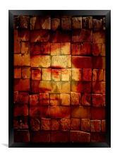 Burnt Bricks or Burns on bricks...( You decide), Framed Print