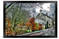 the cottage, Framed Print