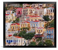Symi island Greece II, Framed Print